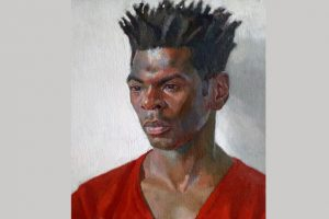 Painting of Desmond Haughton by Nahem Shoa